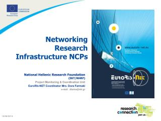 Networking  Research  Infrastructure NCPs