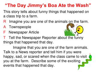 """The Day Jimmy's Boa Ate the Wash"""