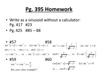 Pg. 395 Homework