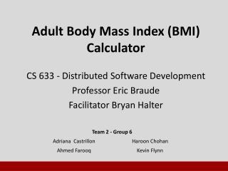 Adult Body Mass Index (BMI) Calculator