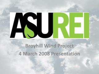 Broyhill  Wind Project 4 March 2008 Presentation