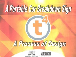 A Portable Car Breakdown Sign