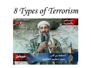8 Types of Terrorism