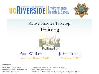 Active Shooter Tabletop Training
