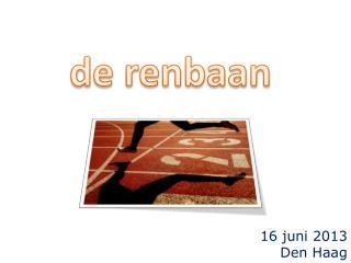 16 juni 2013 Den Haag