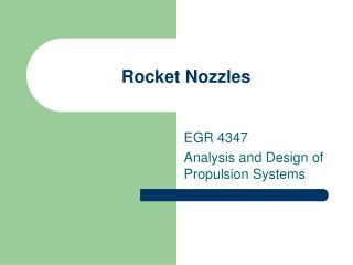 Rocket Nozzles