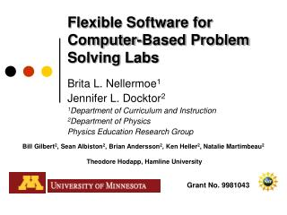 Flexible Software for Computer-Based Problem Solving Labs