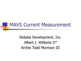 MAVS Current Measurement