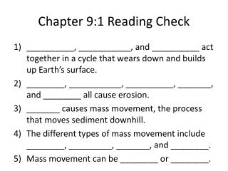 Chapter 9:1 Reading Check