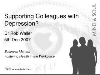 Supporting Colleagues with Depression?