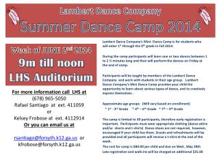 Lambert Dance Company Summer Dance Camp  2014