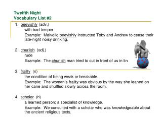 Twelfth Night  Vocabulary List #2