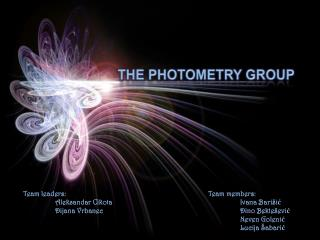 THE PHOTOMETRY GROUP