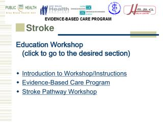 Education Workshop  (click to go to the desired section) Introduction to Workshop/Instructions