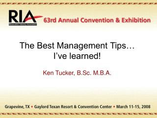 The Best Management Tips  I ve learned