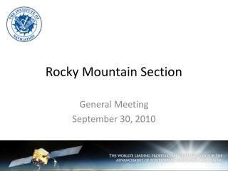 Rocky Mountain Section