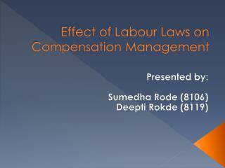 Effect of Labour Laws on Compensation Management