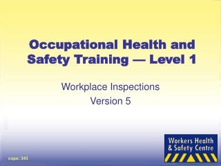 Module 1  Worksite Inspection Checklist