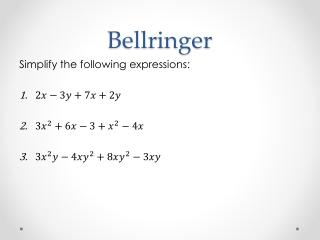 Bellringer: