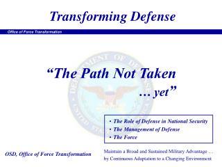 Transforming Defense