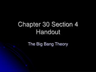 Chapter 30 Section 4 Handout