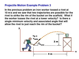 Projectile Motion Example Problem 3