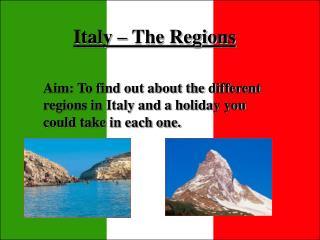 Italy – The Regions
