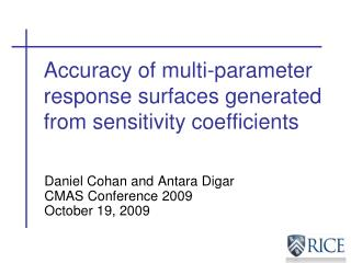 Accuracy of multi-parameter response surfaces generated from sensitivity coefficients