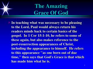 The Amazing Grace Of God