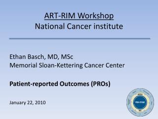 ART-RIM Workshop National Cancer institute