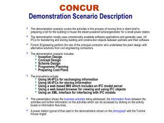 CONCUR Demonstration Scenario Description
