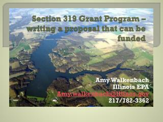 Section 319 Grant  Program – writing a proposal that can be funded