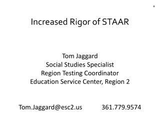 Increased Rigor of STAAR