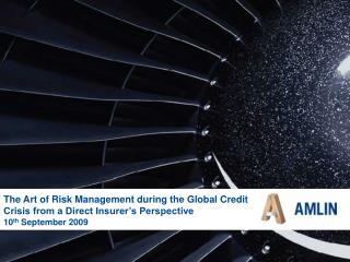 The Art of Risk Management during the Global Credit Crisis from a Direct Insurer's Perspective