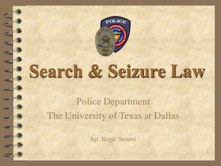 Search  Seizure Law