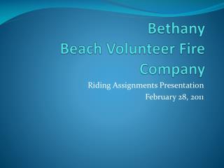 Bethany  Beach Volunteer Fire Company