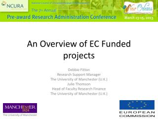 An Overview of EC Funded projects