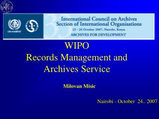 WIPO Records Management and Archives Service