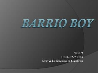 Barrio Boy