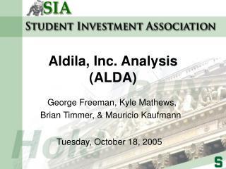 Aldila, Inc. Analysis ALDA