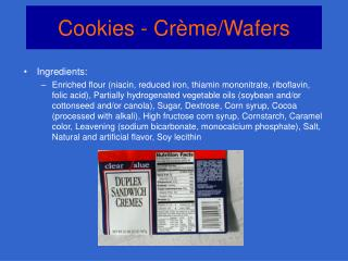Cookies - Crème/Wafers