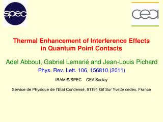 Thermal Enhancement of Interference Effects  in Quantum Point Contacts