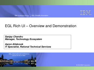 EGL Rich UI – Overview and Demonstration