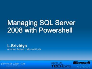 Managing SQL Server 2008 with Powershell