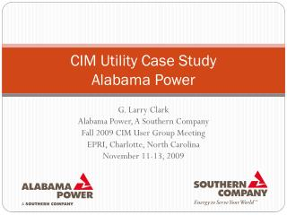 CIM Utility Case Study Alabama Power