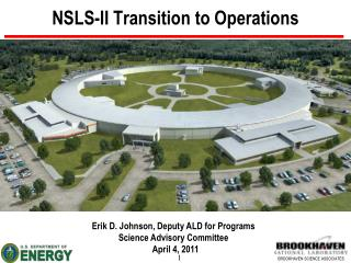 NSLS-II Transition  to Operations