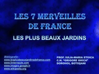LES 7 MERVEILLES DE FRANCE