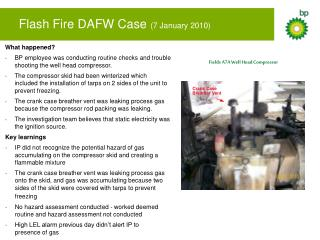 Flash Fire DAFW Case  (7 January 2010)