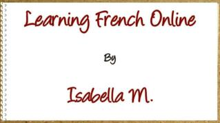 ppt 40787 Learning French Online