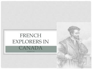 French Explorers in Canada pages 51-59